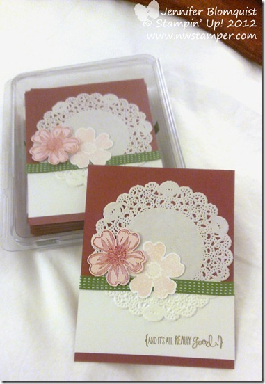 stampin up convention 2013 flower shop swap