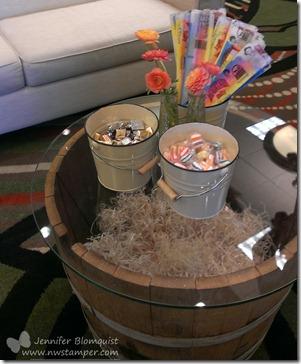 Founders Circle horseshoe lounge candy